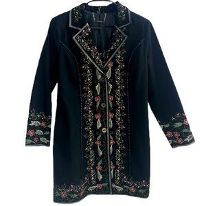 Paparazzi by Biz Embroidered Floral Jacket